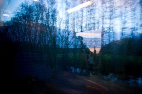 Bahnfahrt im Januar