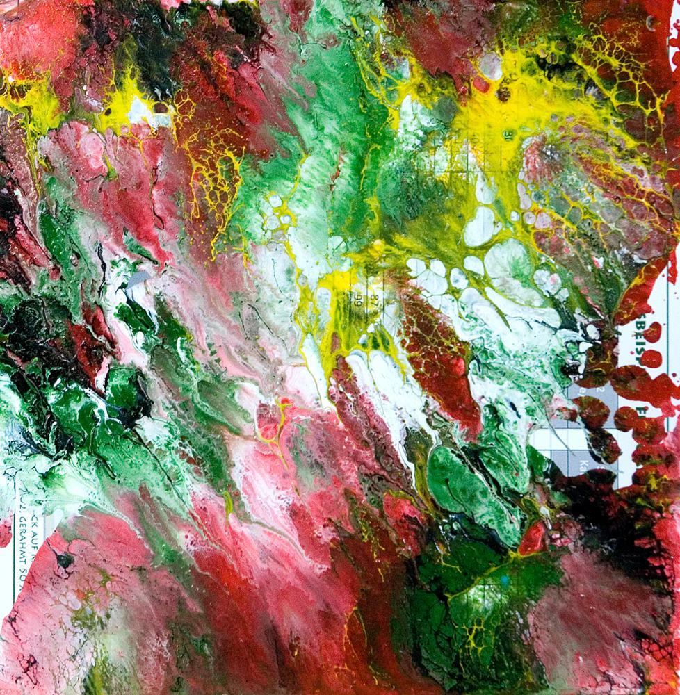 Stephan Reichmann Paint Colour On Paperpaperboard Im Garten Eden